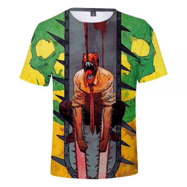 2021 Anime Chainsaw Man 3D Print T shirts Women Men Fashion Summer Short Sleeve T Shirts 3 - Chainsaw Man Shop