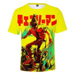 2021 Anime Chainsaw Man 3D Print T shirts Women Men Fashion Summer Short Sleeve T Shirts 5 - Chainsaw Man Shop