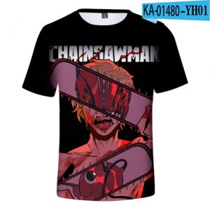 2021 Anime Chainsaw Man 3D Print T shirts Women Men Fashion Summer Short Sleeve T Shirts.jpg 640x640 - Chainsaw Man Shop
