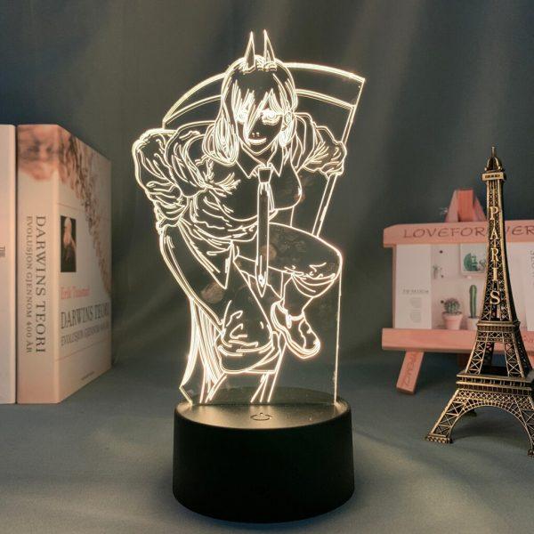 Anime 3d Lamp Chainsaw Man for Bedroom Decor Nightlight Kids Birthday Gift Manga Gadget Chainsaw Man 1 - Chainsaw Man Shop