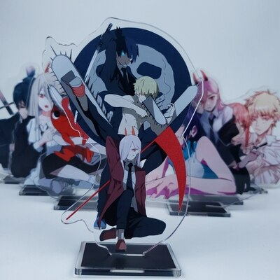 Anime Chainsaw Man 15cm Cosplay Acrylic Figure Stand Figure 7294 Kids Collection Toy 2 - Chainsaw Man Shop