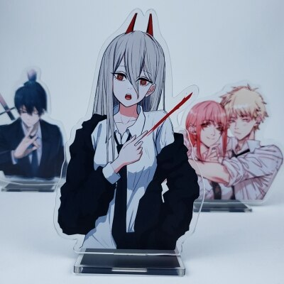 Anime Chainsaw Man 15cm Cosplay Acrylic Figure Stand Figure 7294 Kids Collection Toy 3 - Chainsaw Man Shop