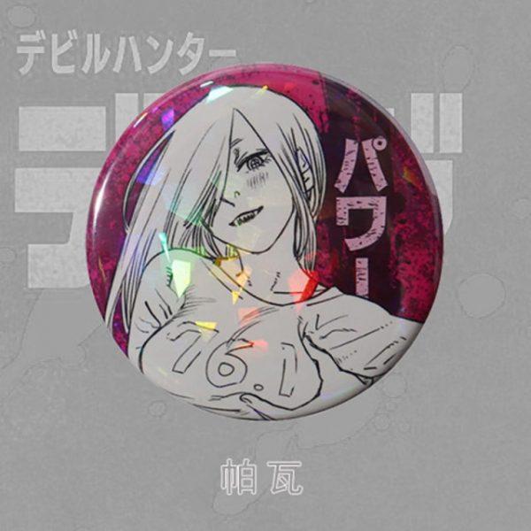 Anime Chainsaw Man Brooch Cosplay Prop Makima Pochita Accessories Reflective Badge Pin 1.jpg 640x640 1 - Chainsaw Man Shop