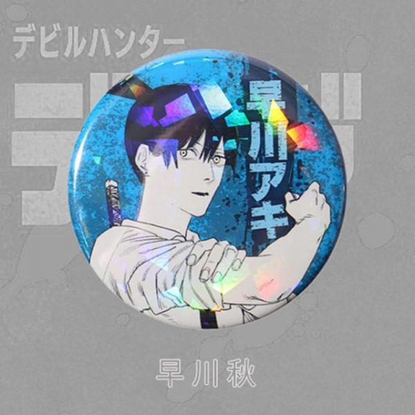 Anime Chainsaw Man Brooch Cosplay Prop Makima Pochita Accessories Reflective Badge Pin 2.jpg 640x640 2 - Chainsaw Man Shop