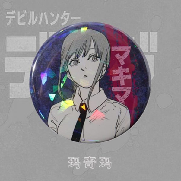 Anime Chainsaw Man Brooch Cosplay Prop Makima Pochita Accessories Reflective Badge Pin 6.jpg 640x640 6 - Chainsaw Man Shop