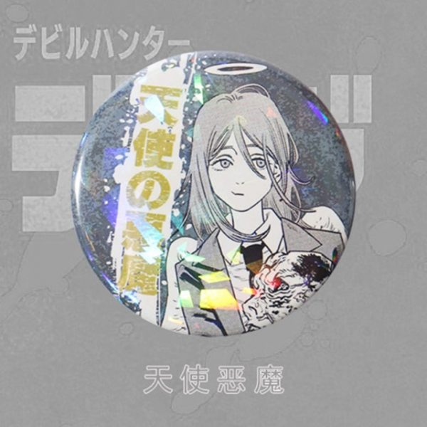 Anime Chainsaw Man Brooch Cosplay Prop Makima Pochita Accessories Reflective Badge Pin 7.jpg 640x640 7 - Chainsaw Man Shop