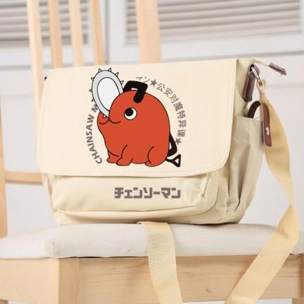 Anime Chainsaw Man Crossbody Canvas Bags School Bag Unisex Messenger Bag Fashion Shoulder Bag - Chainsaw Man Shop