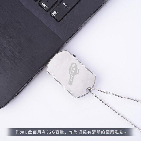 Anime Chainsaw Man Hayakawa Aki Makima Power Fashion 64G USB Flash Drive Disk Device Necklace Pendant 3 - Chainsaw Man Shop
