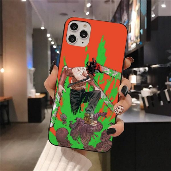 Anime Chainsaw Man Phone Case For iphone 12 11 Pro Max Mini XS Max 8 7 1 - Chainsaw Man Shop