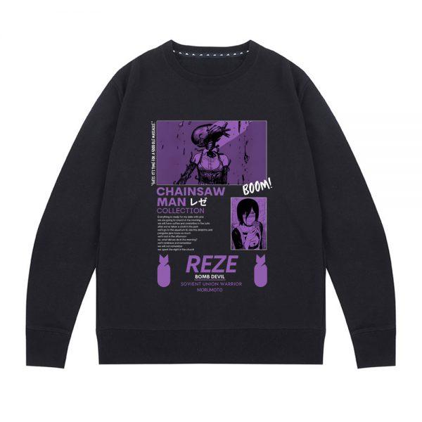 Anime Chainsaw Man Sweatshirt Makima Bad Woman Pattern Sweatshirt Men Women Fashion Hip Hop Pullover Manga - Chainsaw Man Shop