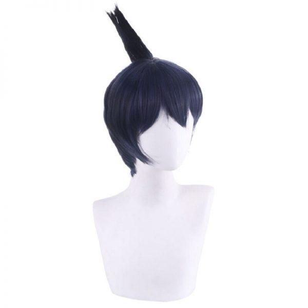 Anime Chainsaw Man Wig Hayakawa Aki Cosplay Wigs 30cm Short black blue Fake Hair men women 3 - Chainsaw Man Shop