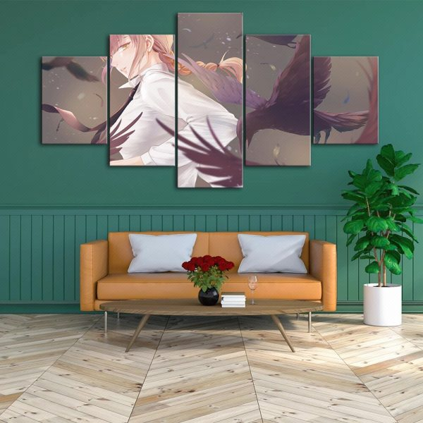 Canvas HD Japan Anime Prints Painting Wall Art Chainsaw Man Poster Modern Home Decor Modular Pictures 3 - Chainsaw Man Shop