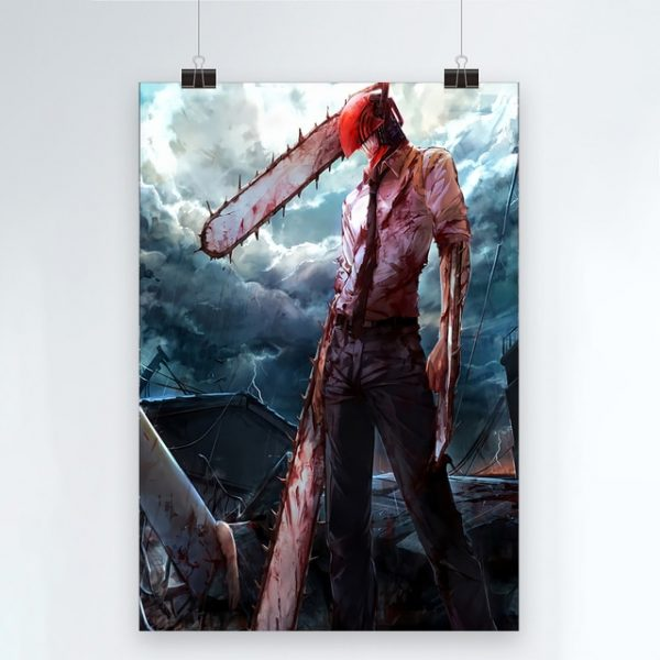 Canvas Modern Chainsaw Man Picture Home Decoration Painting Wall Art Prints Blood Animation Role Poster Modular 1.jpg 640x640 1 - Chainsaw Man Shop