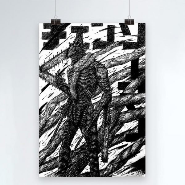 Canvas Modern Chainsaw Man Picture Home Decoration Painting Wall Art Prints Blood Animation Role Poster Modular 3.jpg 640x640 3 - Chainsaw Man Shop
