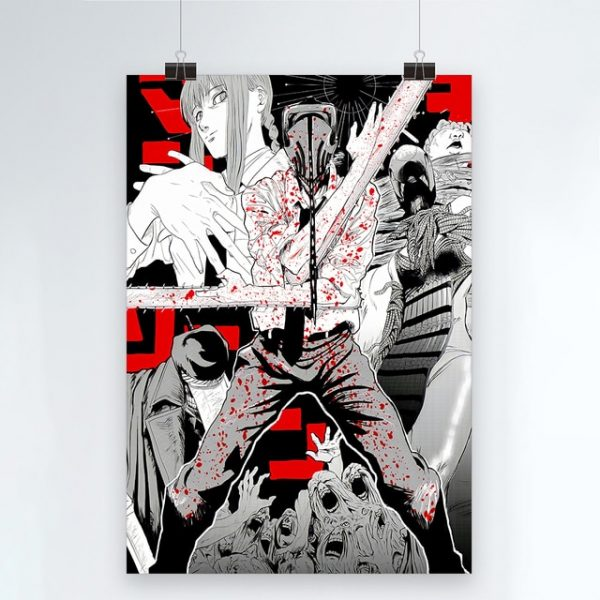 Canvas Modern Chainsaw Man Picture Home Decoration Painting Wall Art Prints Blood Animation Role Poster Modular 4.jpg 640x640 4 - Chainsaw Man Shop