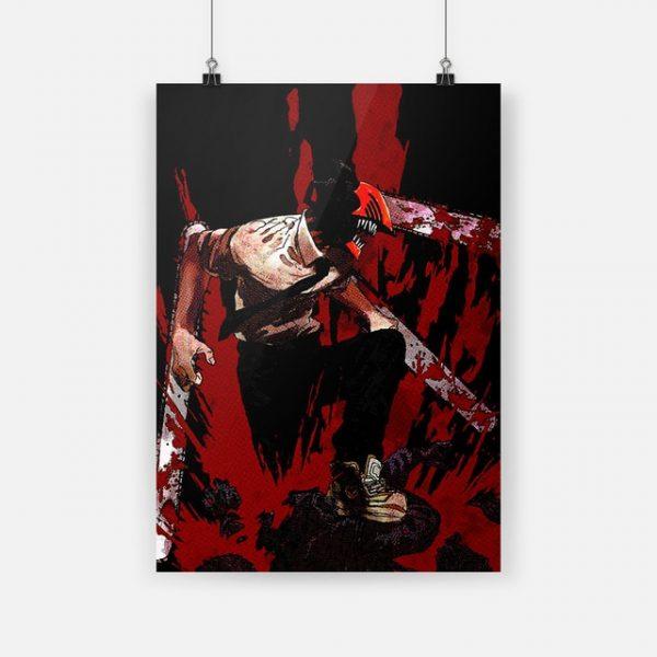 Canvas Print Chainsaw Man Anime Denji Anime Wall Art Poster Painting Modern Home Decor Modular Pictures - Chainsaw Man Shop
