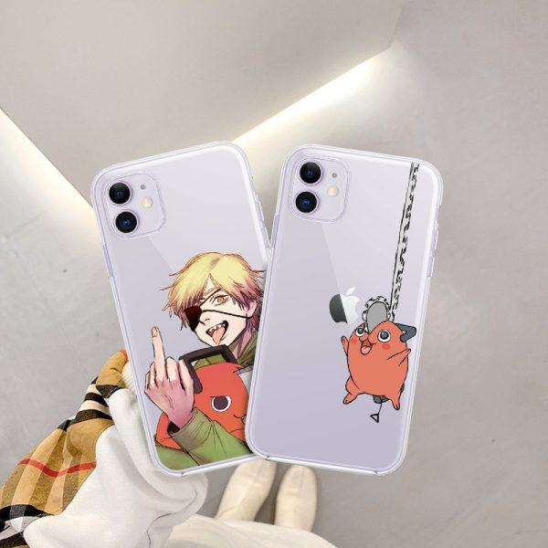Cartoon Anime Chainsaw Man Phone Case For iPhone 12 Mini XS MAX 7 XR 11 Pro - Chainsaw Man Shop