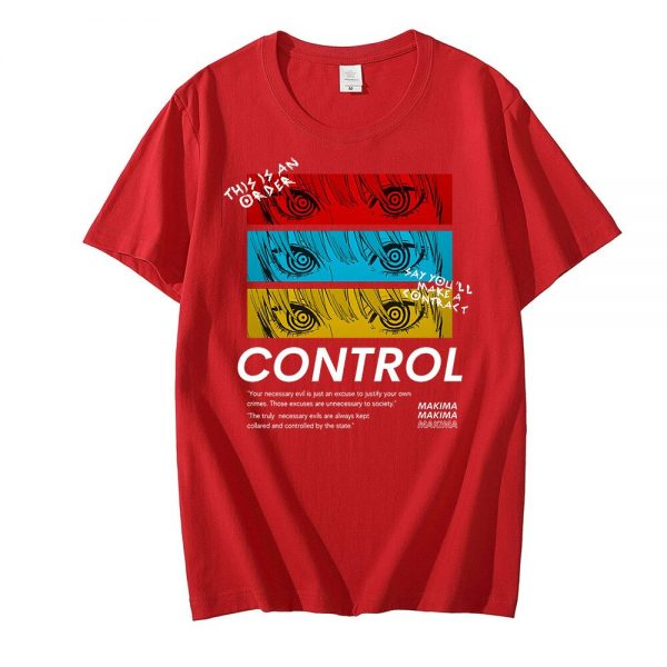 Chainsaw Man CONTROL T Shirt Men Graphic Print Tees Tops Men Women Oversized Short Sleeve T 2 - Chainsaw Man Shop