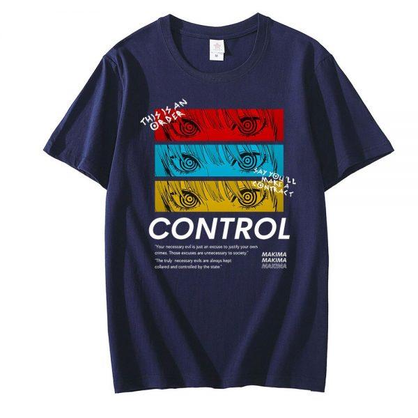 Chainsaw Man CONTROL T Shirt Men Graphic Print Tees Tops Men Women Oversized Short Sleeve T 3 - Chainsaw Man Shop