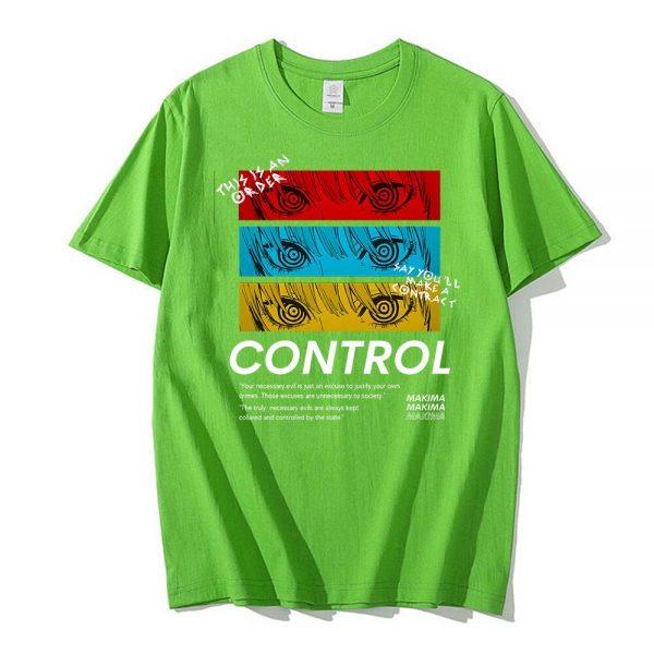 Chainsaw Man CONTROL T Shirt Men Graphic Print Tees Tops Men Women Oversized Short Sleeve T 4 - Chainsaw Man Shop