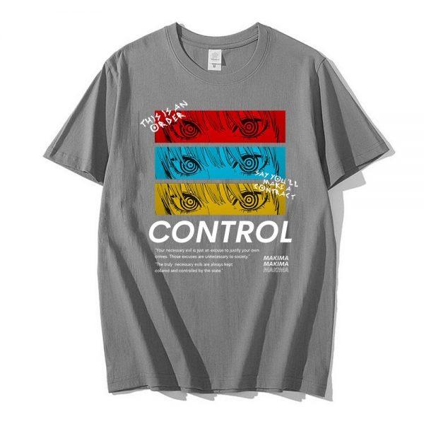 Chainsaw Man CONTROL T Shirt Men Graphic Print Tees Tops Men Women Oversized Short Sleeve T 5 - Chainsaw Man Shop
