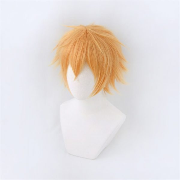Chainsaw Man Denji Wig Cosplay Costume Golden Short Heat Resistant Synthetic Hair Halloween 1 - Chainsaw Man Shop