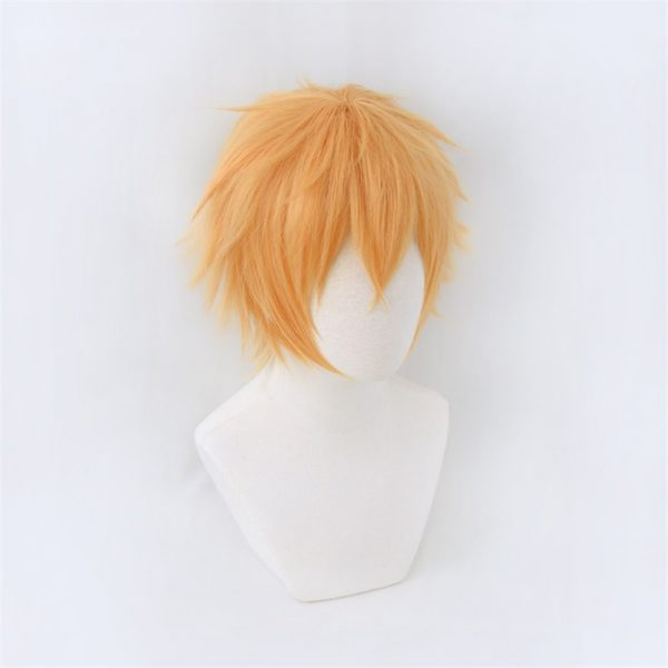 Chainsaw Man Denji Wig Cosplay Costume Golden Short Heat Resistant Synthetic Hair Halloween 2 - Chainsaw Man Shop