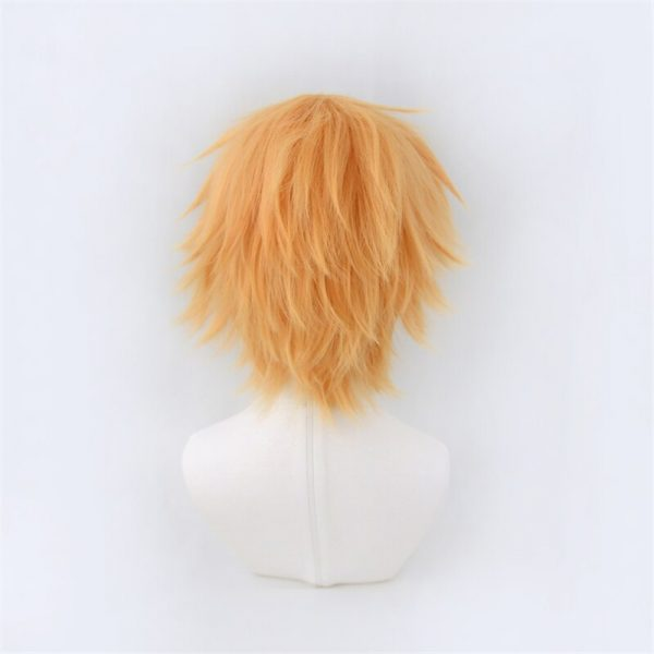 Chainsaw Man Denji Wig Cosplay Costume Golden Short Heat Resistant Synthetic Hair Halloween 3 - Chainsaw Man Shop