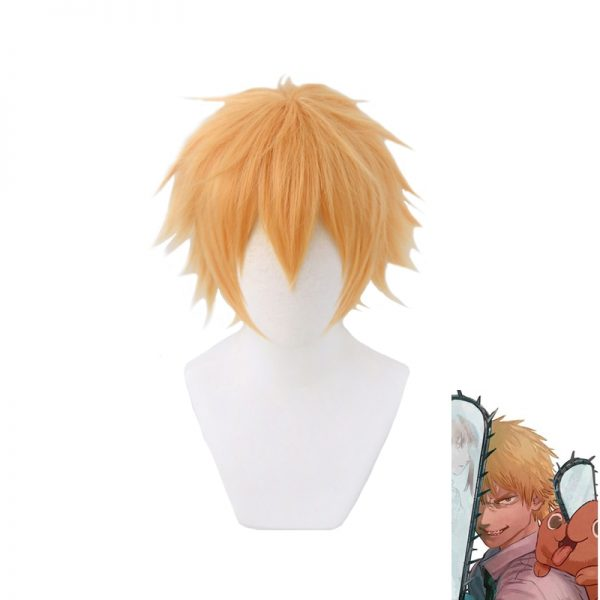 Chainsaw Man Denji Wig Cosplay Costume Golden Short Heat Resistant Synthetic Hair Halloween - Chainsaw Man Shop