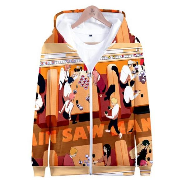 Chainsaw Man Hoodie Sweatshirt Chainsaw Man Zip up 3D Hoody Sweatshirt 11.jpg 640x640 11 - Chainsaw Man Shop