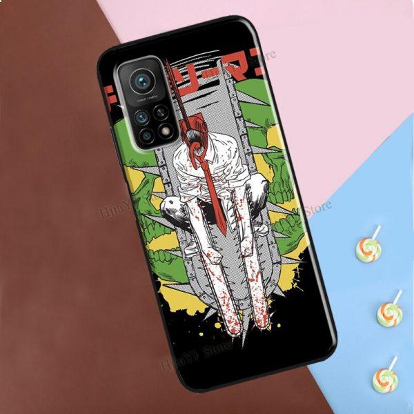 Chainsaw Man Horror Anime For Xiaomi Mi 9T 10T Pro Mi Note 10 Lite A2 Mi 2 - Chainsaw Man Shop