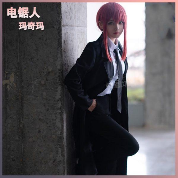 Chainsaw Man Makima cos anime man woman cosplay High quality jk college uniform costume set Jacket - Chainsaw Man Shop