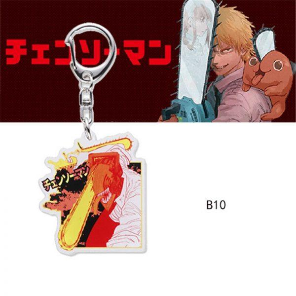 Chainsaw Man Pochita Keychain Cosplay Acrylic Key Chain Pendant Womens Cute Bag Pendant Key Ring Gift 3 - Chainsaw Man Shop