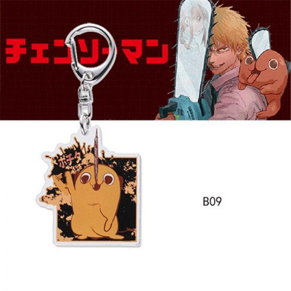 Chainsaw Man Pochita Keychain Cosplay Acrylic Key Chain Pendant Womens Cute Bag Pendant Key Ring Gift 4 - Chainsaw Man Shop