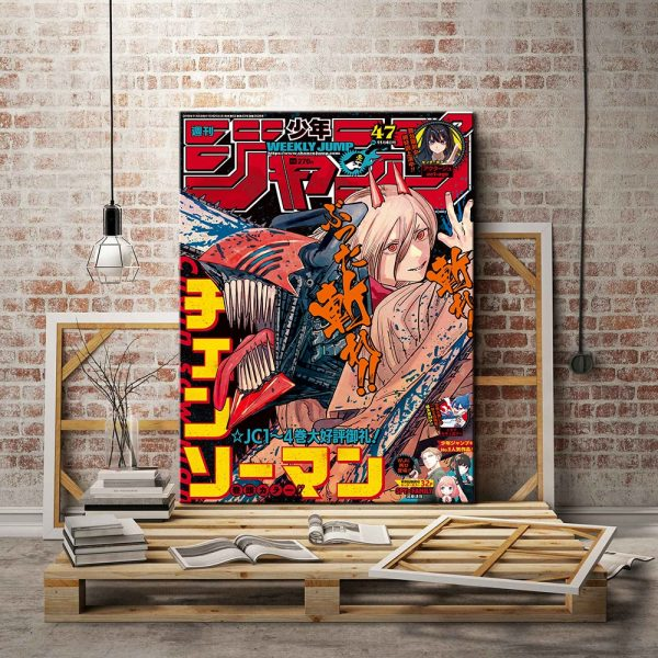 Chainsaw Man anime canvas painting decor wall art pictures bedroom study home living room decoration prints - Chainsaw Man Shop