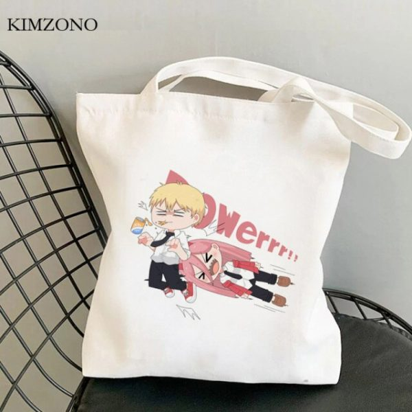 Chainsaw Man shopping bag canvas bolsa bolsas de tela eco tote shopper bag net jute tote 17.jpg 640x640 17 - Chainsaw Man Shop