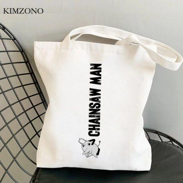 Chainsaw Man shopping bag canvas bolsa bolsas de tela eco tote shopper bag net jute tote 5.jpg 640x640 5 - Chainsaw Man Shop