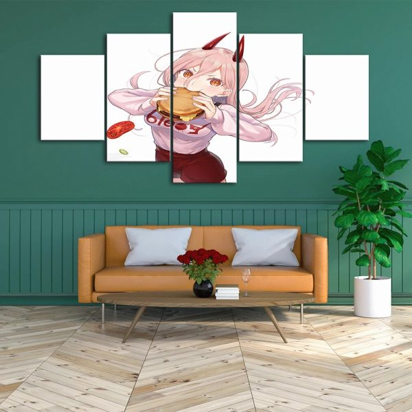 HD Home Decor Anime Canvas Chainsaw Man Prints Painting Japan Poster Wall Modern Art Modular Pictures 3 - Chainsaw Man Shop