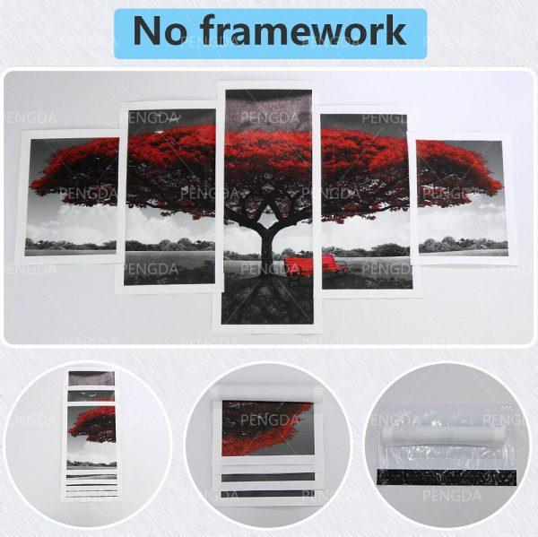 HD Home Decor Chainsaw Man Canvas Japanese Prints Painting Anime Poster 5 Panel Wall Art Modular 4 - Chainsaw Man Shop