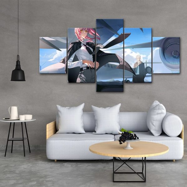 HD Home Decor Japan Anime Canvas Prints Painting Chainsaw Man Poster Wall Art Modular Pictures For 1 - Chainsaw Man Shop