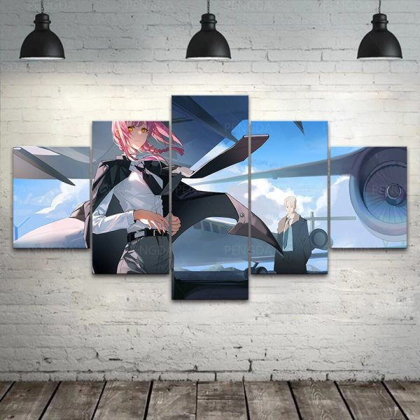 HD Home Decor Japan Anime Canvas Prints Painting Chainsaw Man Poster Wall Art Modular Pictures For 2 - Chainsaw Man Shop