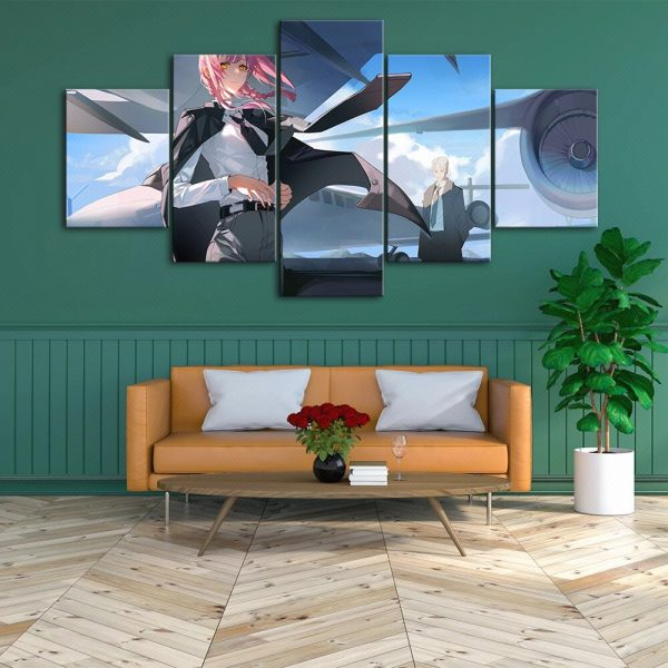 HD Home Decor Japan Anime Canvas Prints Painting Chainsaw Man Poster Wall Art Modular Pictures For 3 - Chainsaw Man Shop