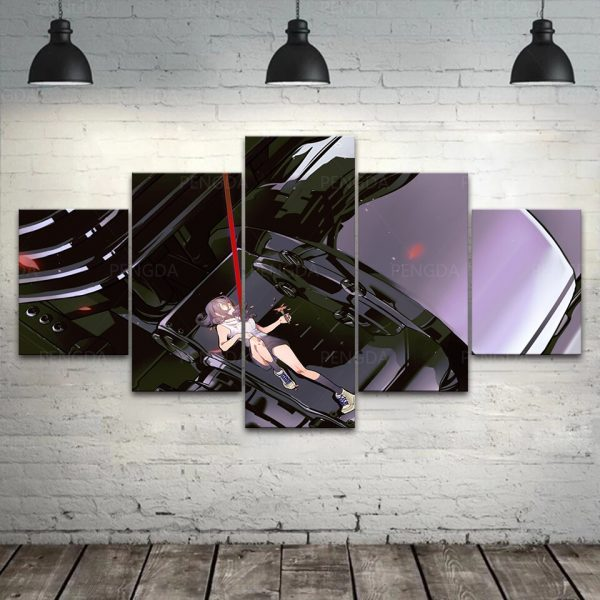 HD Home Decoration Chainsaw Man Canvas Anime Prints Painting Poster Wall Modern Artwork Modular Pictures Living 2 - Chainsaw Man Shop