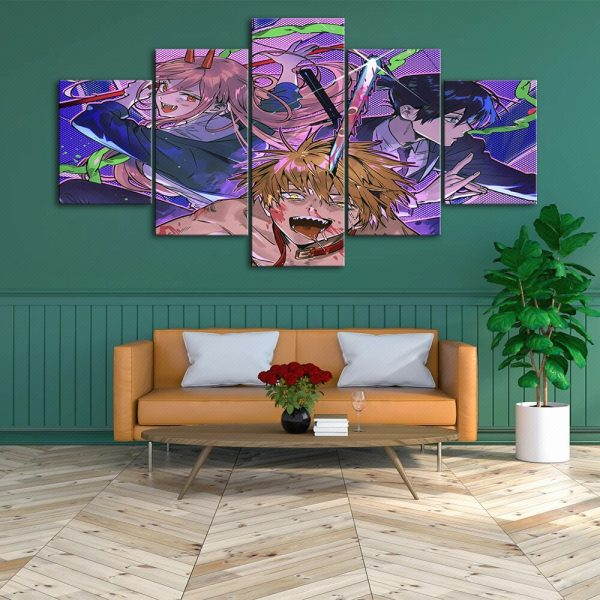 HD Home Decoration Chainsaw Man Canvas Japan Prints Painting Anime Poster Wall Modern Art Modular Pictures 1 - Chainsaw Man Shop