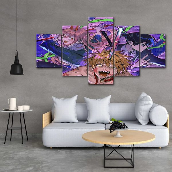 HD Home Decoration Chainsaw Man Canvas Japan Prints Painting Anime Poster Wall Modern Art Modular Pictures 3 - Chainsaw Man Shop