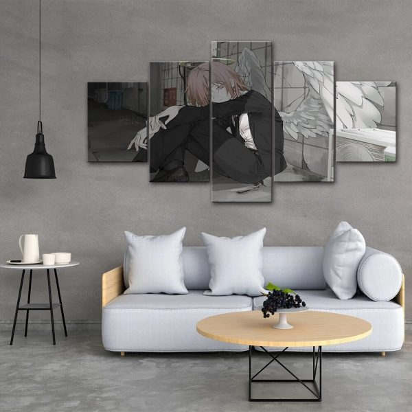 HD Home Decoration Chainsaw Man Canvas Prints Painting Anime Poster Wall Art Modular Picture For Bedside 2 - Chainsaw Man Shop