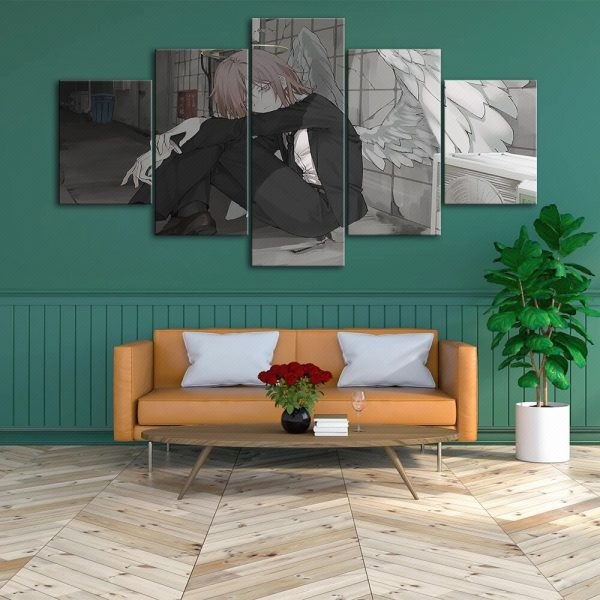 HD Home Decoration Chainsaw Man Canvas Prints Painting Anime Poster Wall Art Modular Picture For Bedside 3 - Chainsaw Man Shop