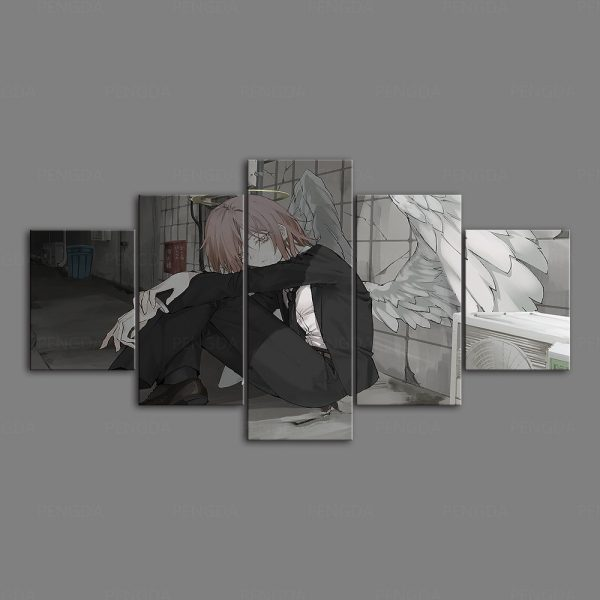 HD Home Decoration Chainsaw Man Canvas Prints Painting Anime Poster Wall Art Modular Picture For Bedside - Chainsaw Man Shop