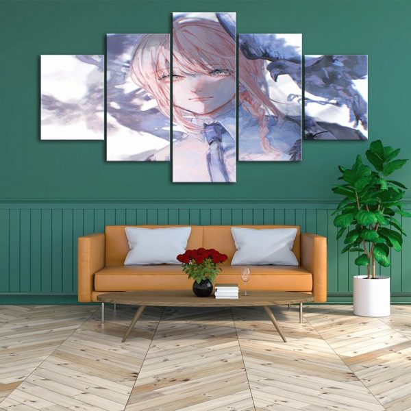 Home Decoration Chainsaw Man Canvas Anime Prints Painting Japan Poster Wall Modern Art Modular Pictures For 3 - Chainsaw Man Shop