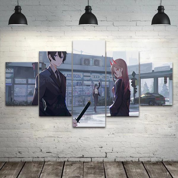 Home Decoration Chainsaw Man Canvas Japan Prints Painting Anime Poster Wall Art Modular Picture For Bedside 1 - Chainsaw Man Shop